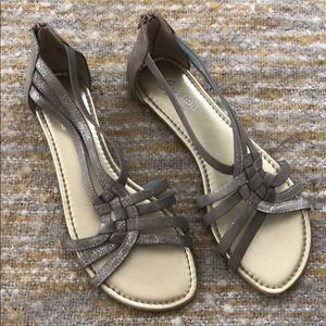 Seychelles silver sandals, size 7.5, new